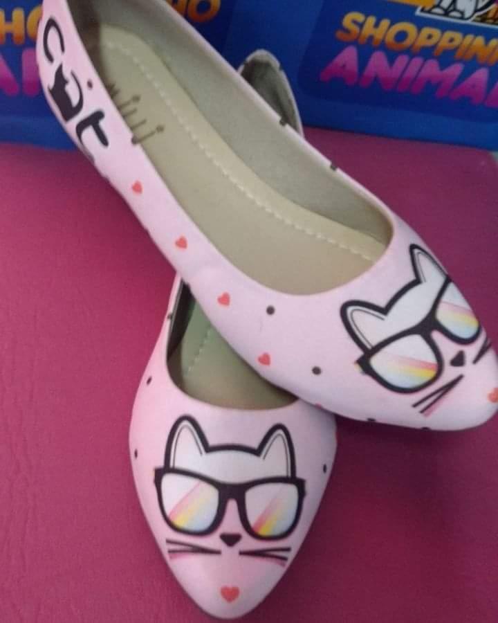 Sapatilha Gato Hipster Rosa