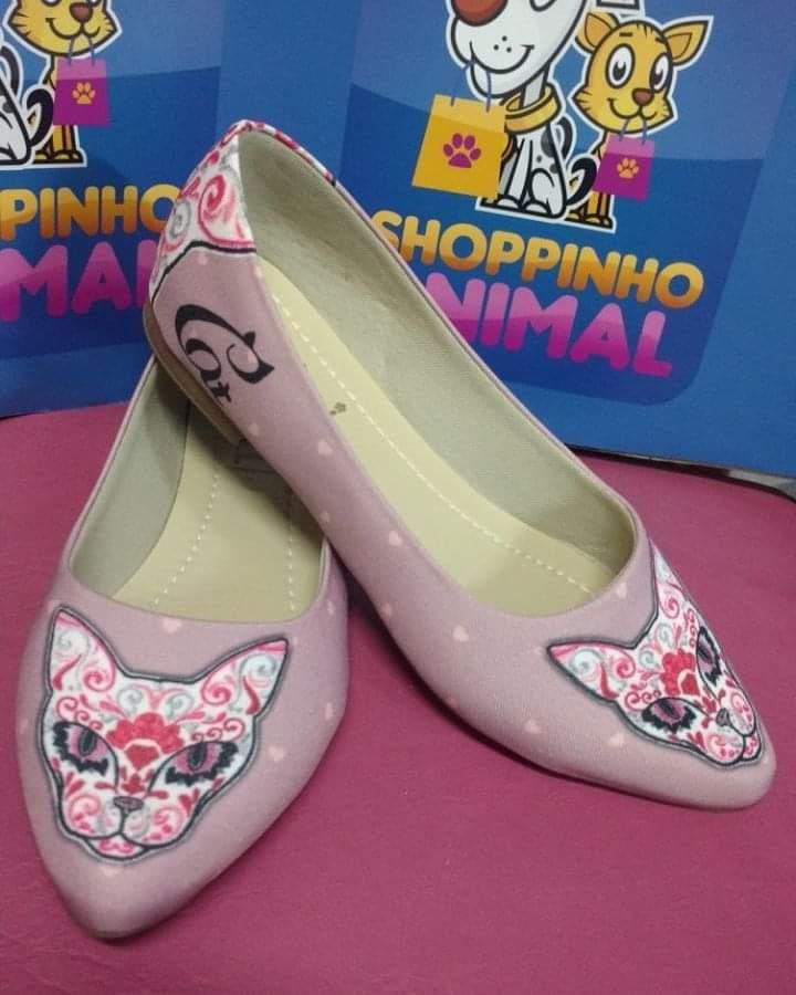 Sapatilha Gato Pink