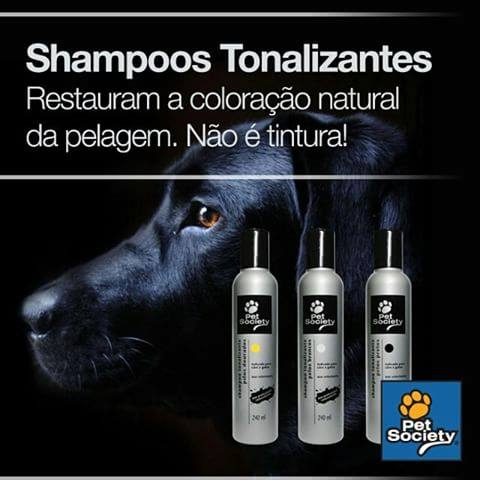 Shampoo Pet Society Tonalizante  para Cães e Gatos - Shoppinho Animal