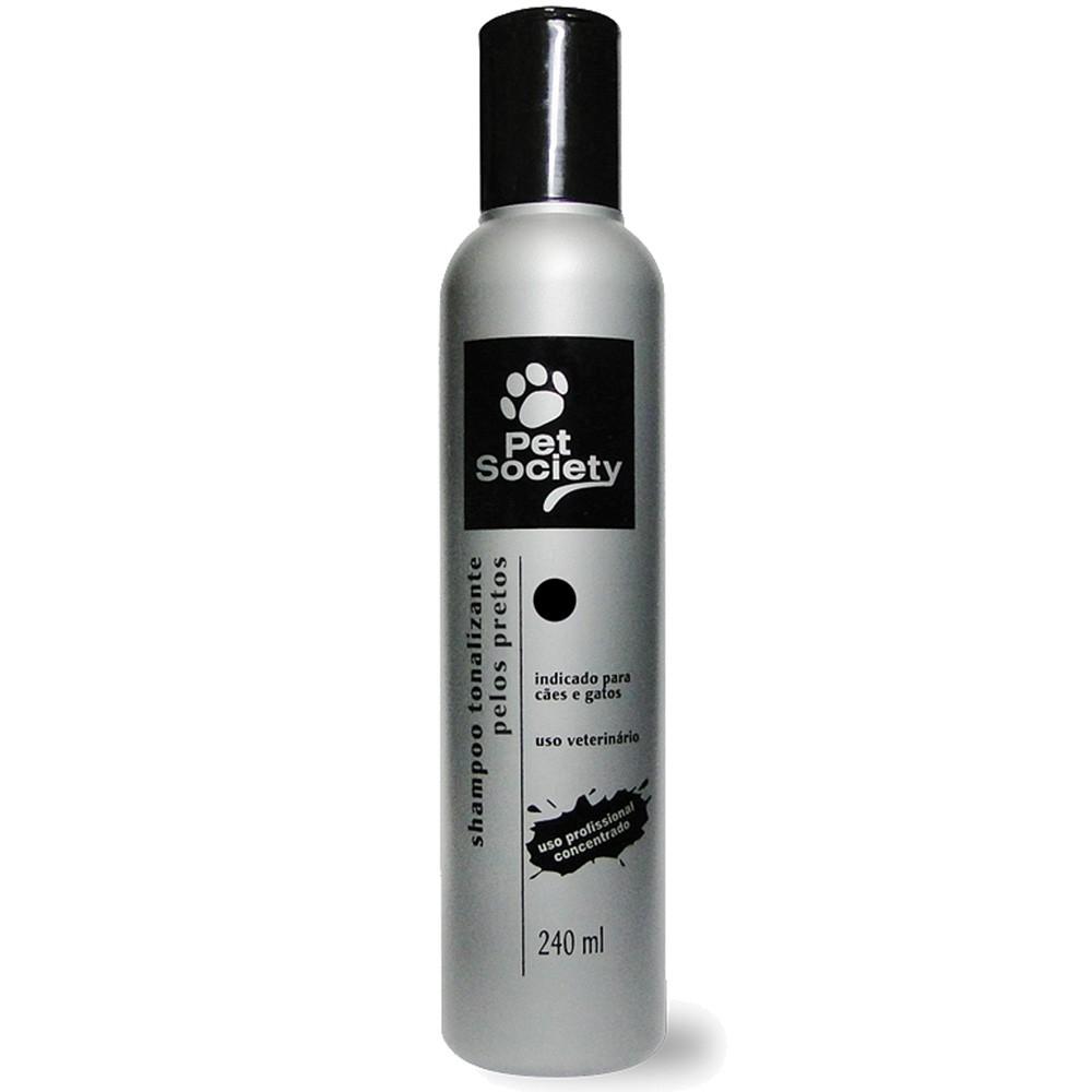 Shampoo Pet Society Tonalizante Pelos Pretos para Cães e Gatos