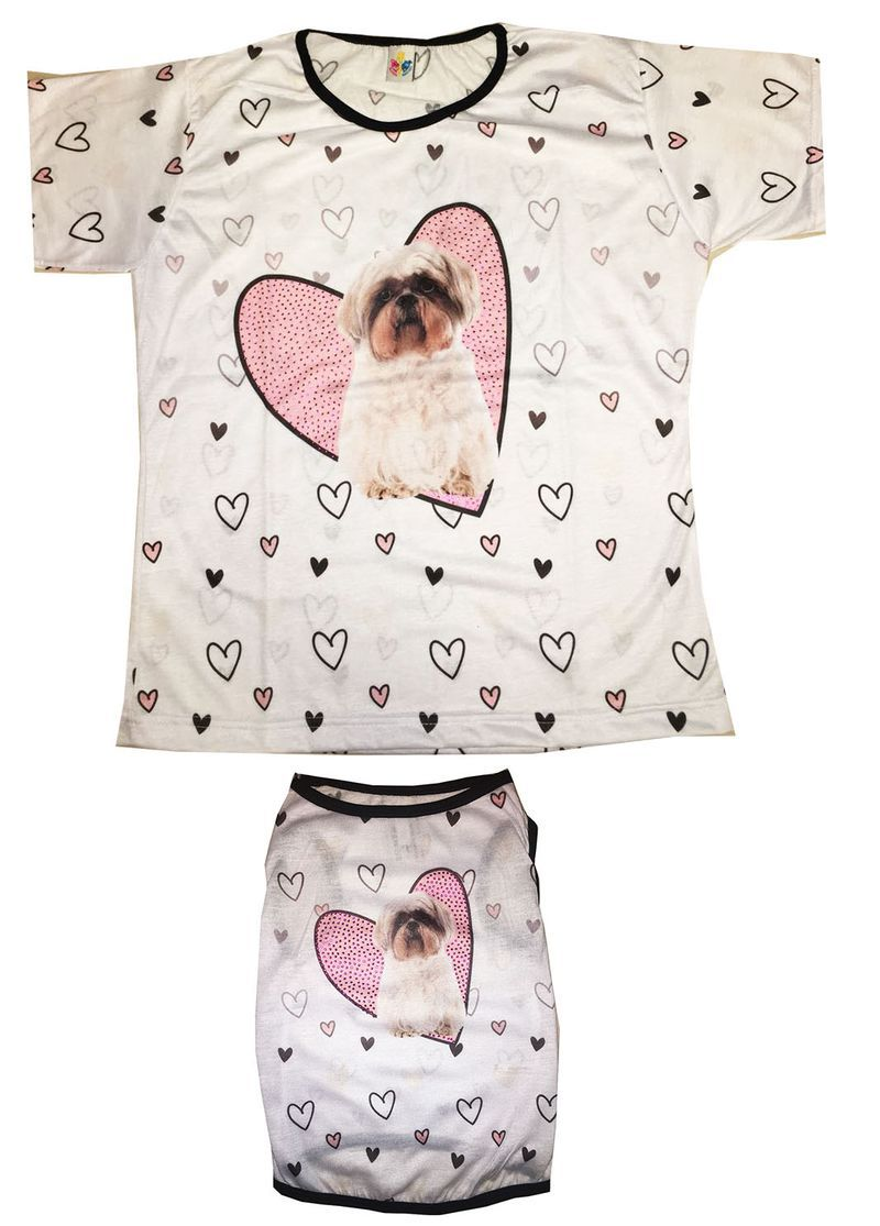 Tal Mãe & Tal Pet – Coração Shihtzu  - Shoppinho Animal