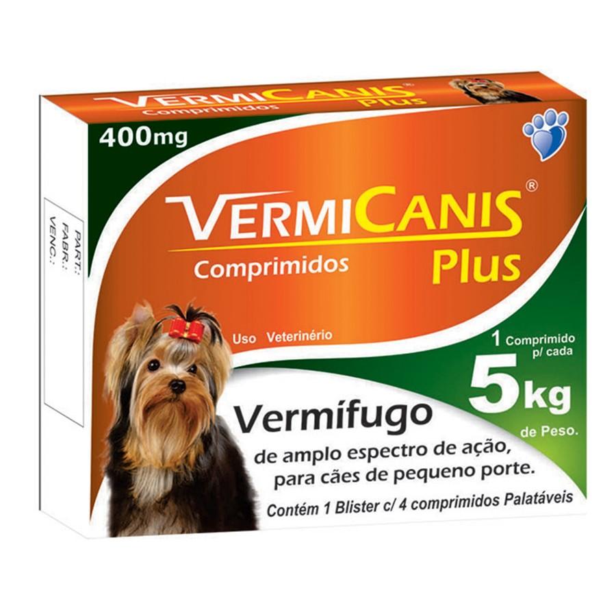 Vermífugo VermiCanis c/ 4 Comprimidos