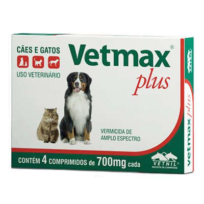 Vermífugo Vetnil Vetmax Plus 700 mg