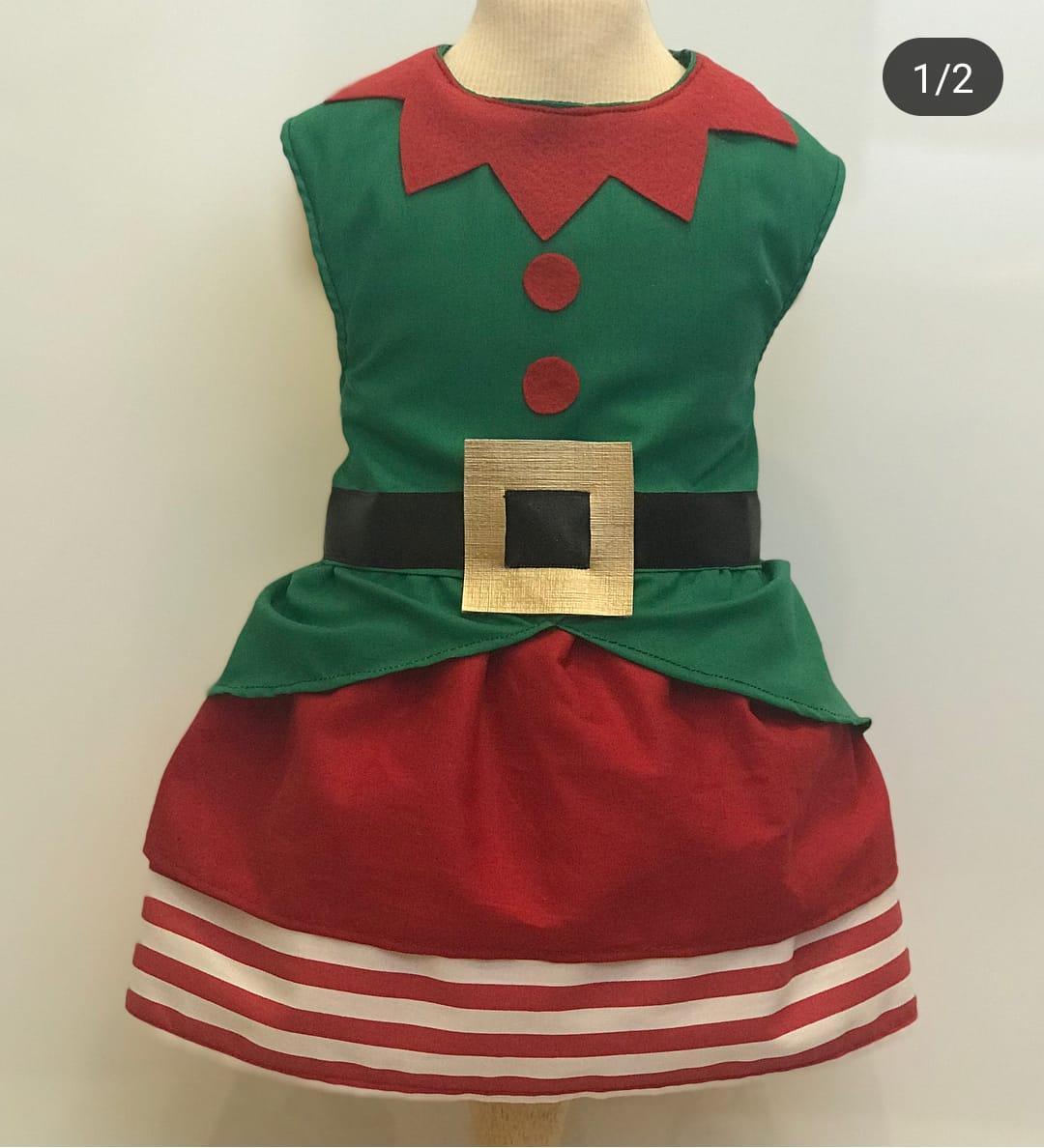 Vestido Ajudante Papai Noel - Natal
