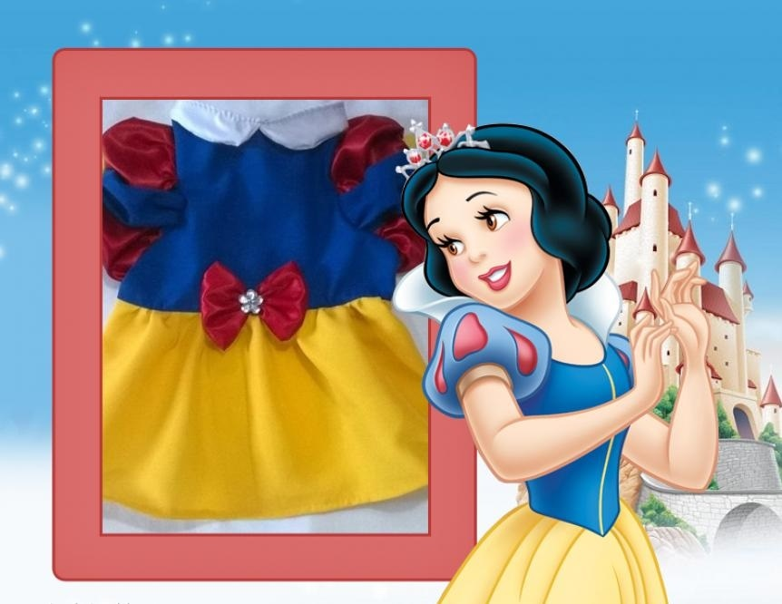 VESTIDO BRANCA DE NEVE  (FANTASIA)  - Shoppinho Animal