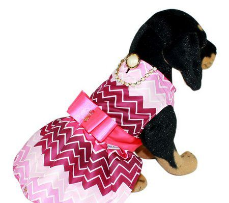 VESTIDO CHEVRON ROSA  - Shoppinho Animal
