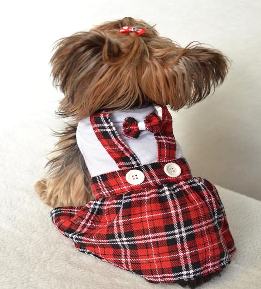 Vestido Colegial- Vermelho  - Shoppinho Animal