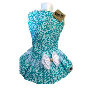 VESTIDO FLORAL VERDE TIFFANY  - Shoppinho Animal