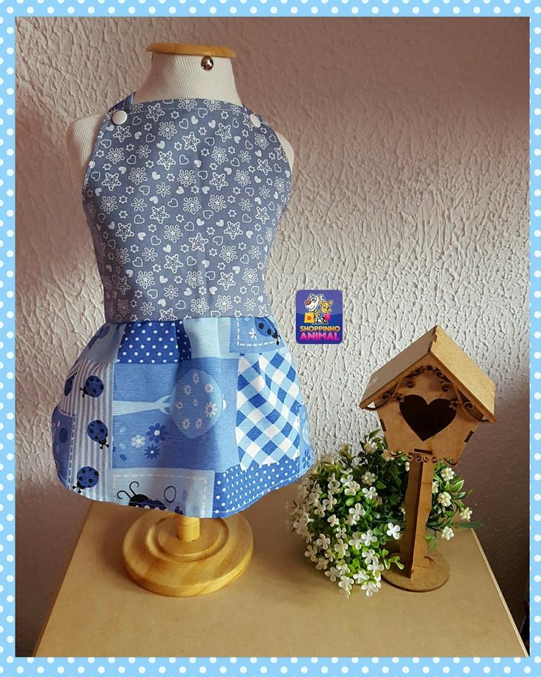 Vestido Foffy Azul  - Shoppinho Animal