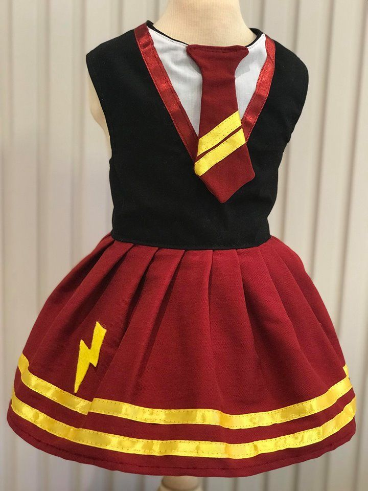 VESTIDO HERMIONE FANTASIA HARRY POTTER