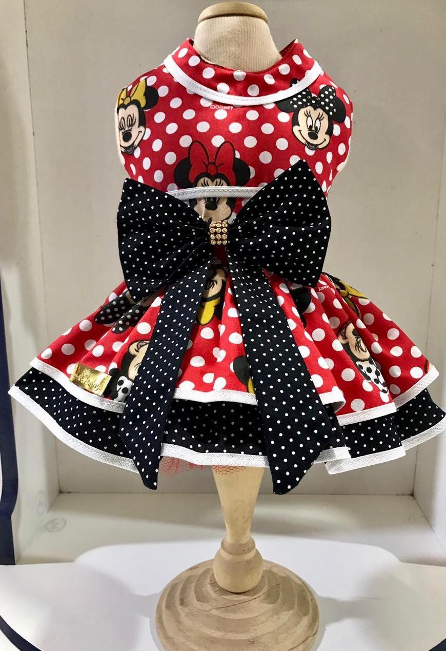 Vestido Minnie preto e vermelho