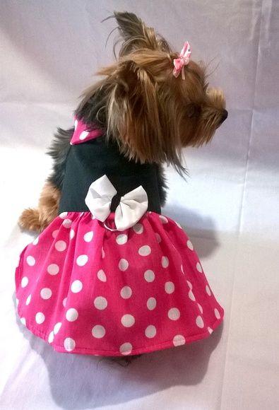 Vestido Minnie- Rosa  - Shoppinho Animal