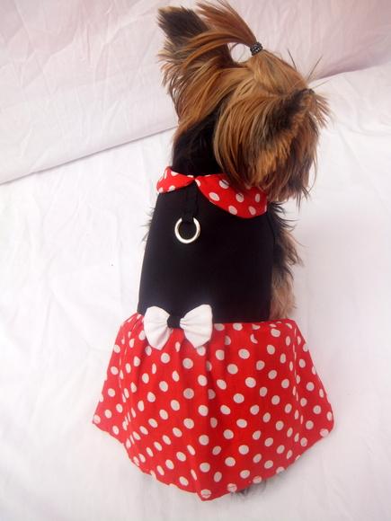 Vestido Minnie- Vermelho   - Shoppinho Animal