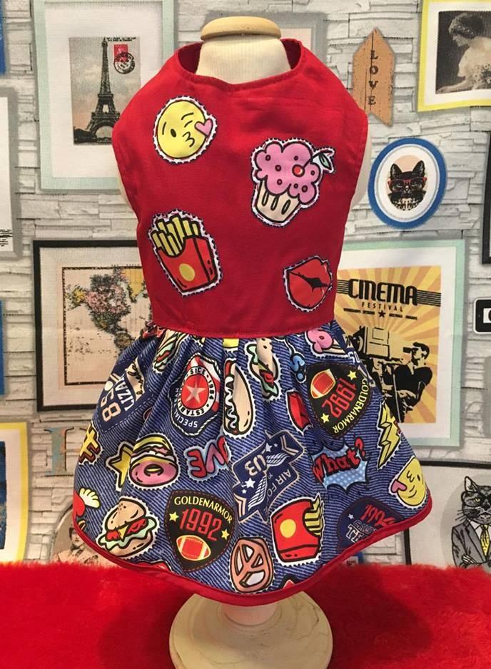 Vestido Patch LUXO  - Shoppinho Animal