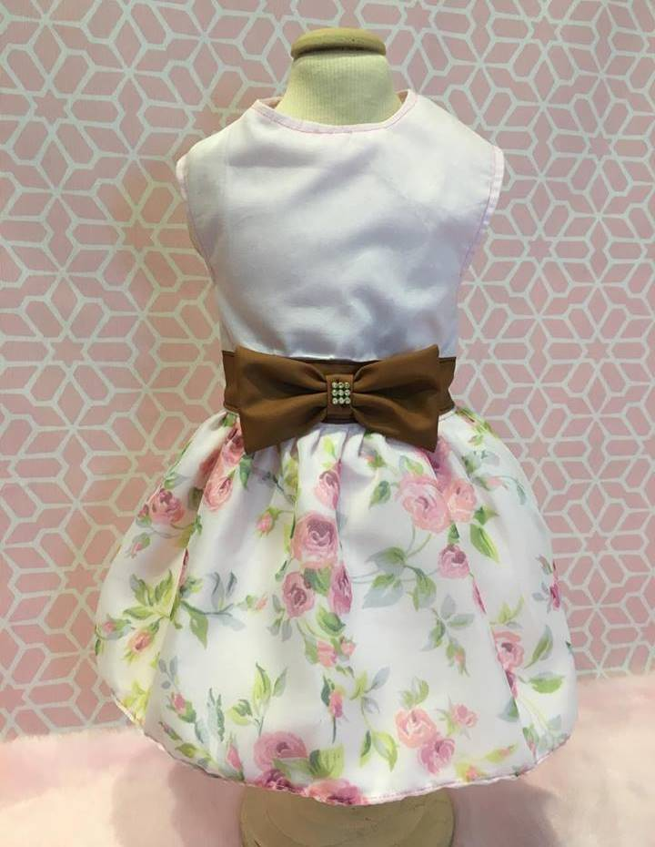 Vestido Rosa bebe + floral LUXO