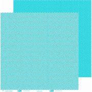 Papel ScrapPaper Dr Papel - chevron - Azul Bahamas - com 3 folhas