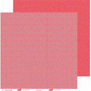 Papel ScrapPaper Dr Papel - chevron - Vermelho Tóquio - com 3 folhas