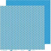 Papel ScrapPaper Dr Papel - Cobogó - Azul Grécia - com 3 folhas