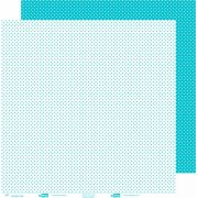 Papel ScrapPaper Dr Papel - Poá - Azul Bahamas - com 3 folhas