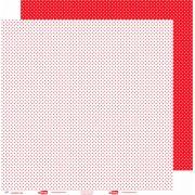 Papel ScrapPaper Dr Papel - Poá - Vermelho Tóquio - com 3 folhas