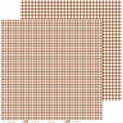 Papel ScrapPaper Dr Papel - xadrez - Marrom Havana - com 3 folhas