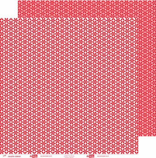 Papel ScrapPaper Dr Papel - Cobogó - Vermelho Tóquio - com 3 folhas