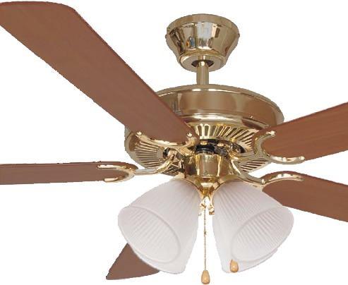 Ventilador Teto Homeline Hl01 - Dourado 5 Pás e 4 Tulipas 220v