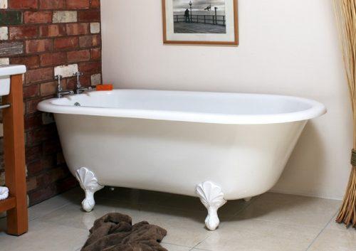 Banheira Vitoriana Branca Super Brilhante
