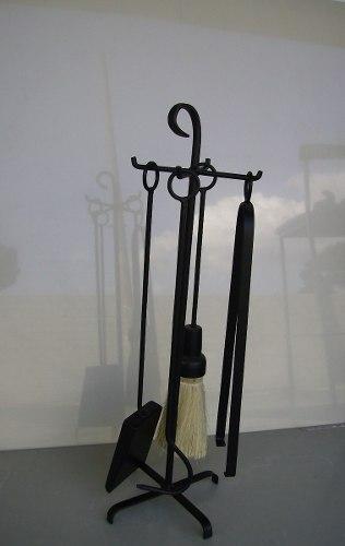 Kit Limpeza Ferramentas ou Acessorios P/ Limpeza  de Lareira Ferro Preto Pequeno