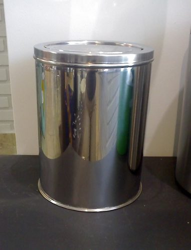 Lixeira Inox 20x30 Tampa Giratoria P/ Banheiro Ou Cozinha Chão Bancada