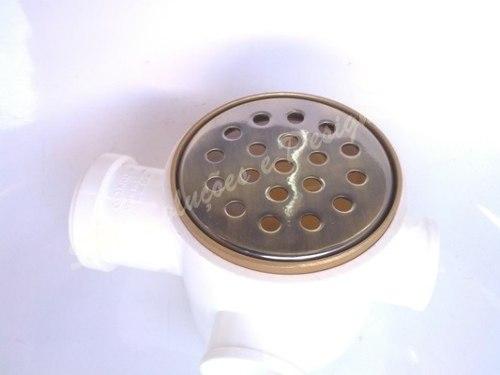 Ralo Grelha 10cm Redondo Ouro Velho P/ Lavabo Ou Banheiro