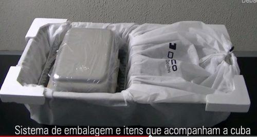 Cuba Dupla Inox C/ Acessorios Debacco  e Triturador Insink Erator