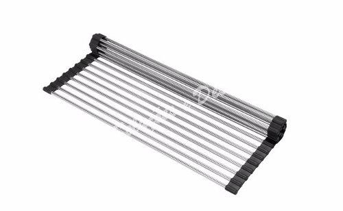 Escorredor Flexivel Multiuso 49cmx32cm Debacco Grid Drainer Inox