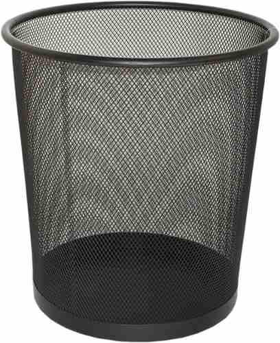 Cesto P/ Lixo Escritorio - Lixeira Telada Preta 26cm