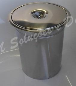 Kit Lixeira Embutir 5 lts Escorredor, Dosador E Porta Esponja Em Inox 304