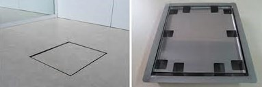 Ralo Quadrado Tampa Oculta Square P/ Cx De 10cm Ou 15cm - Ralo Linear
