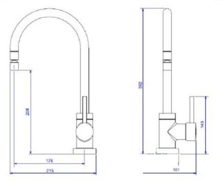 Misturador Monocomando Cozinha Spin Bica  Deca 2271.c72