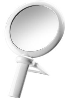 Espelho De Aumento Branco,amplia 5x Linha Beaute