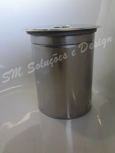 Kit Lixeira 28x40cm  10lts E Dosador De Embutir No Granito Inox 304