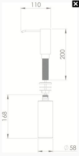 Dosador De Detergente Alto Embutir - Porta Sabonete Liquido
