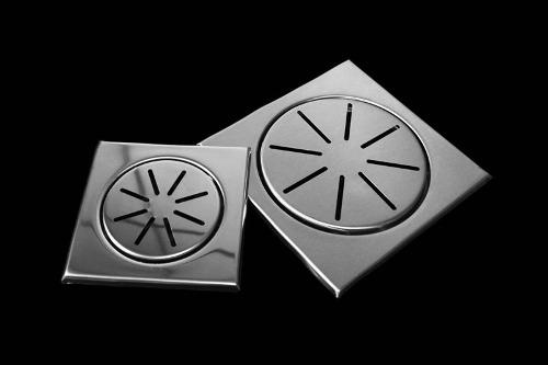 Ralo inox Decor Elegance p/ Box 12,5cm x 12,5cm p/ Cx De 100mm