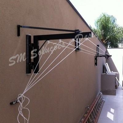 Varal Dobravel Parede /muro Até 6m - Ideal P/ Area Externa