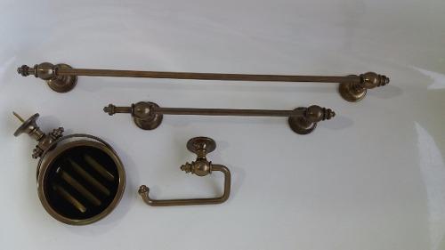 Acessorios Em Ouro Velho P/ Lavabo Ou Banheiro - Peças Únicas