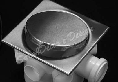 Ralo Inox Elegance Escovado 17,5cm x 17,5cm p/ Cx De 150mm