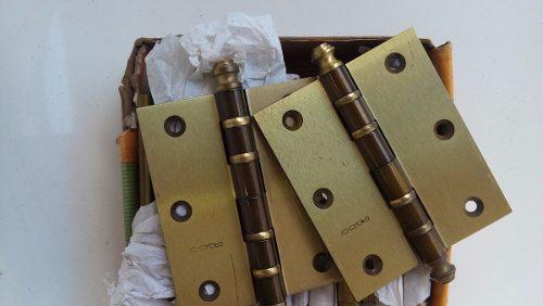 Dobradiça Latão Pado Ref.4030 C/ Anel 4x3 Lo