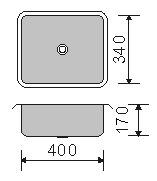Cuba inox 304 Polida Strake Numero 0 embutir 40X34X17