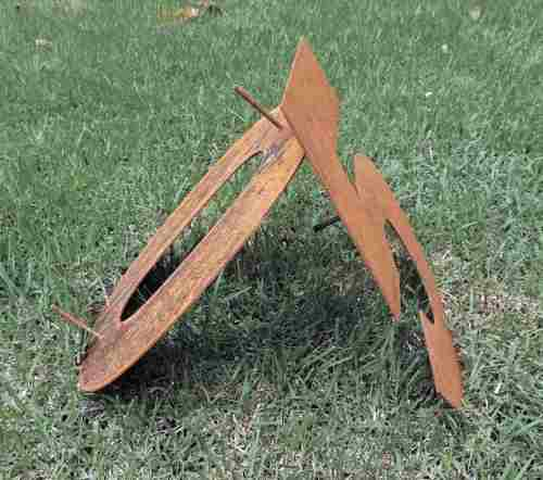 Algarismo P/ Residencia - Números Em Aço Corten 35cm Ref.bh