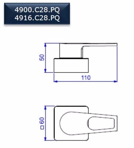 """Acabamento de Registro pressão ate 1"""" Linha Level Mix Deca 4916.C28.PQ"""