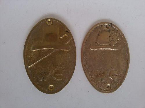 Placas Decorativas Em Latão Polido - Bronze Aplique - BAR