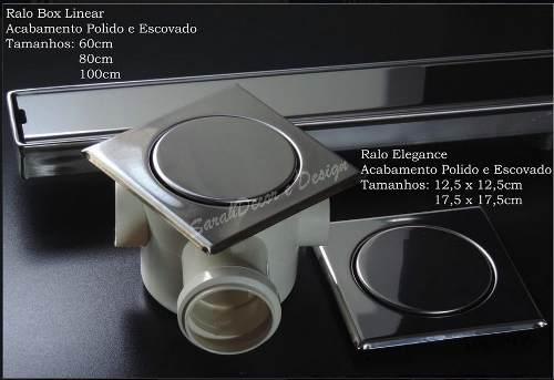 Ralo Inox P/ Cx De 100mm Elegance Polido  12,5cm x 12,5cm